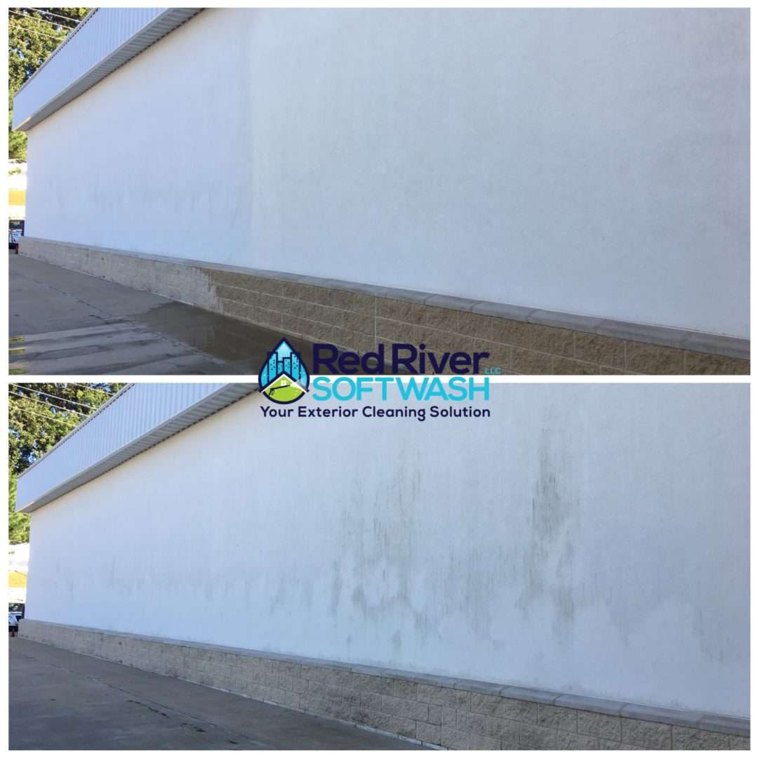 building exterior algae removal cleaning pressure washing Hooks, TX